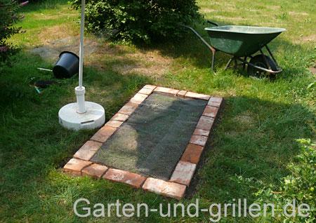 Foto: Drahtgeflecht verhindert Wühlmaus & Maulwurf.