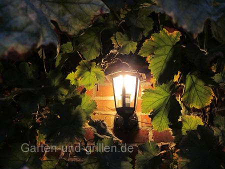 Gartenlampe für die Wand