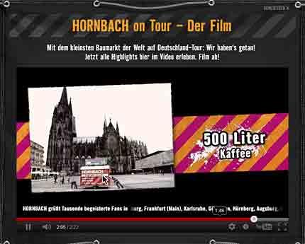 500 Liter Kaffee wurden laut Hornbach verbraucht