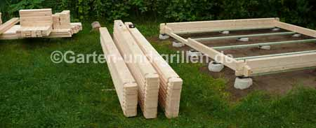 gartenhaus bausatz auf punktfundament selbstgemacht. Black Bedroom Furniture Sets. Home Design Ideas