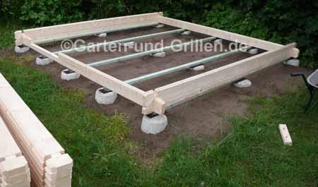 Gartenhaus Bausatz auf Punktfundament selbstgemacht