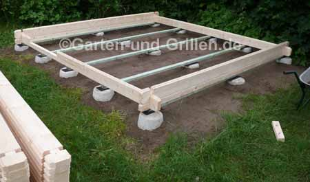 Gartenhaus bausatz auf punktfundament selbstgemacht - Gartenhaus bauen fundament ...