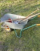 Gartenwerkzeuge für die Arbeit im Garten